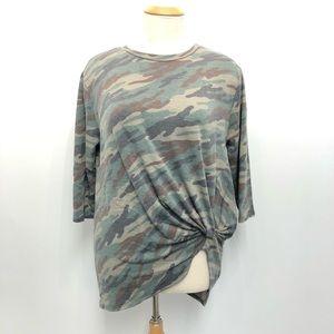 Botanique XL Camo stretch Shirt Too Green Tunic